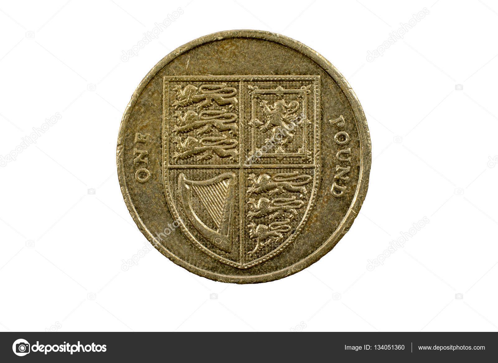Großbritannien 1 Pfund Münze Verwendet Stockfoto Russell102