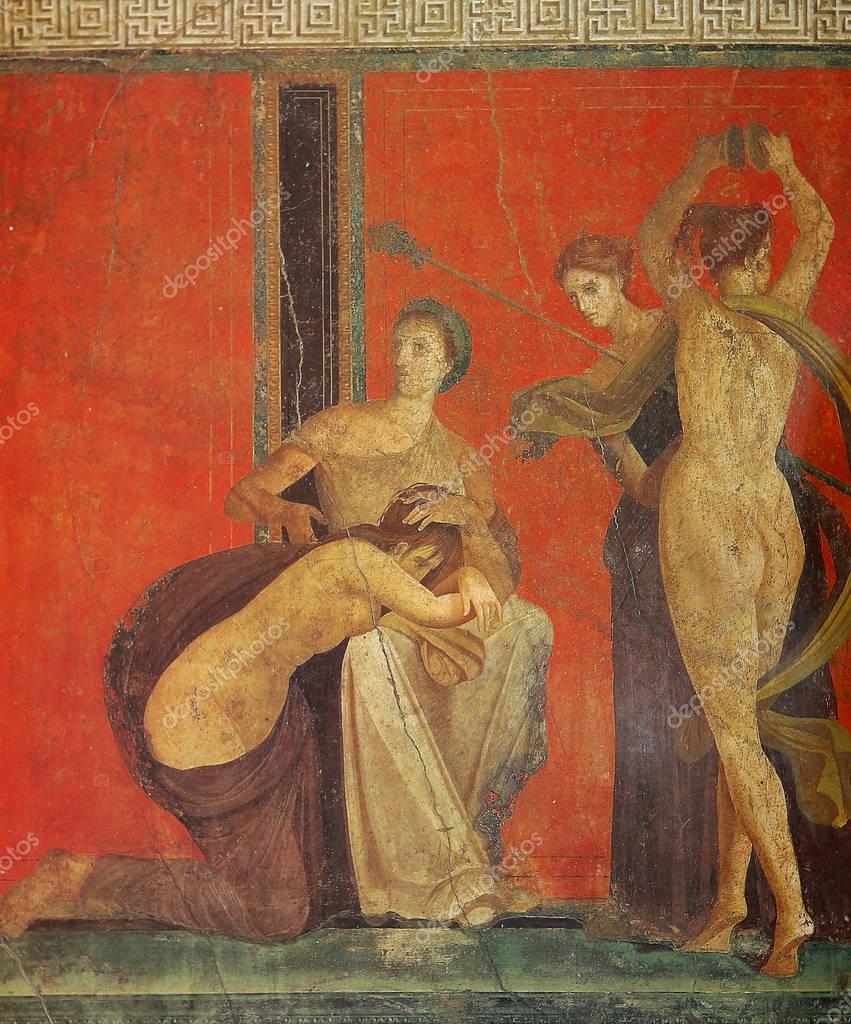 древние эро фрески фото римских борделей она