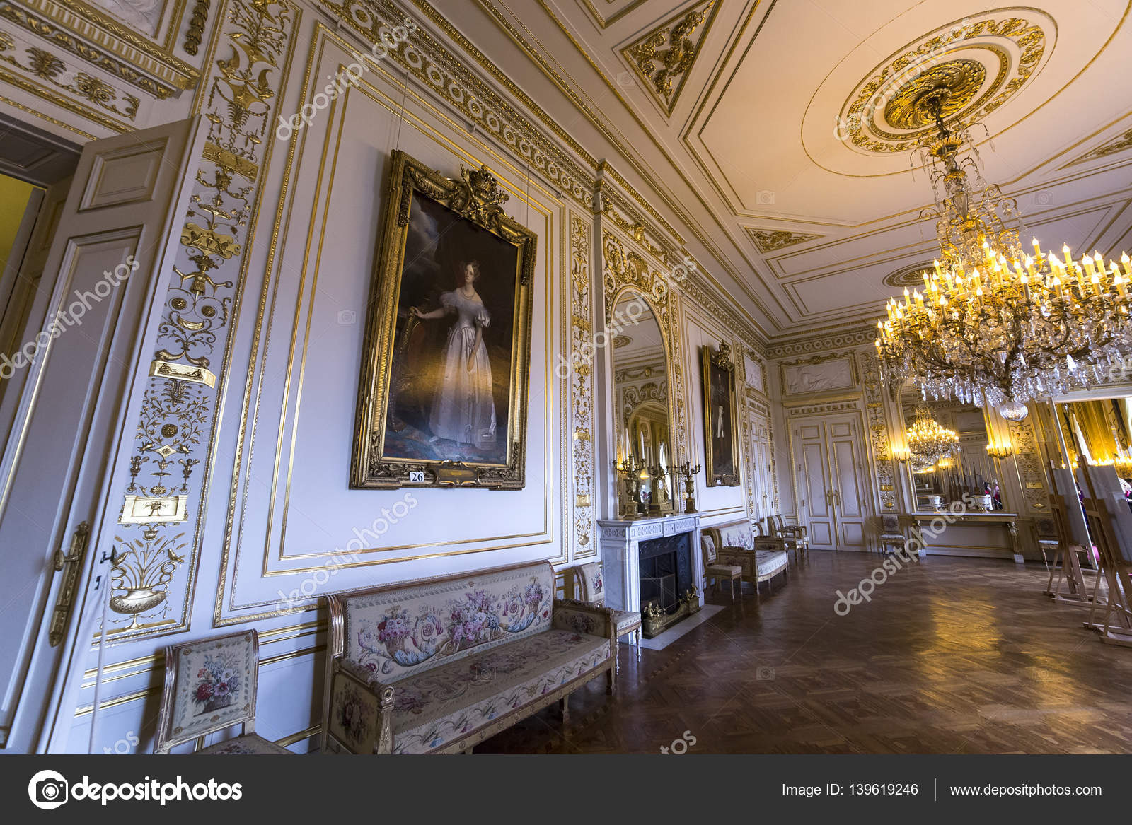 BRUSSELS AUGUST 06 An Interior View Of The Royal Palace In Brussels,  Belgium, AUGUST 06, 2014 In Brussels. U2014 Photo By Isogood