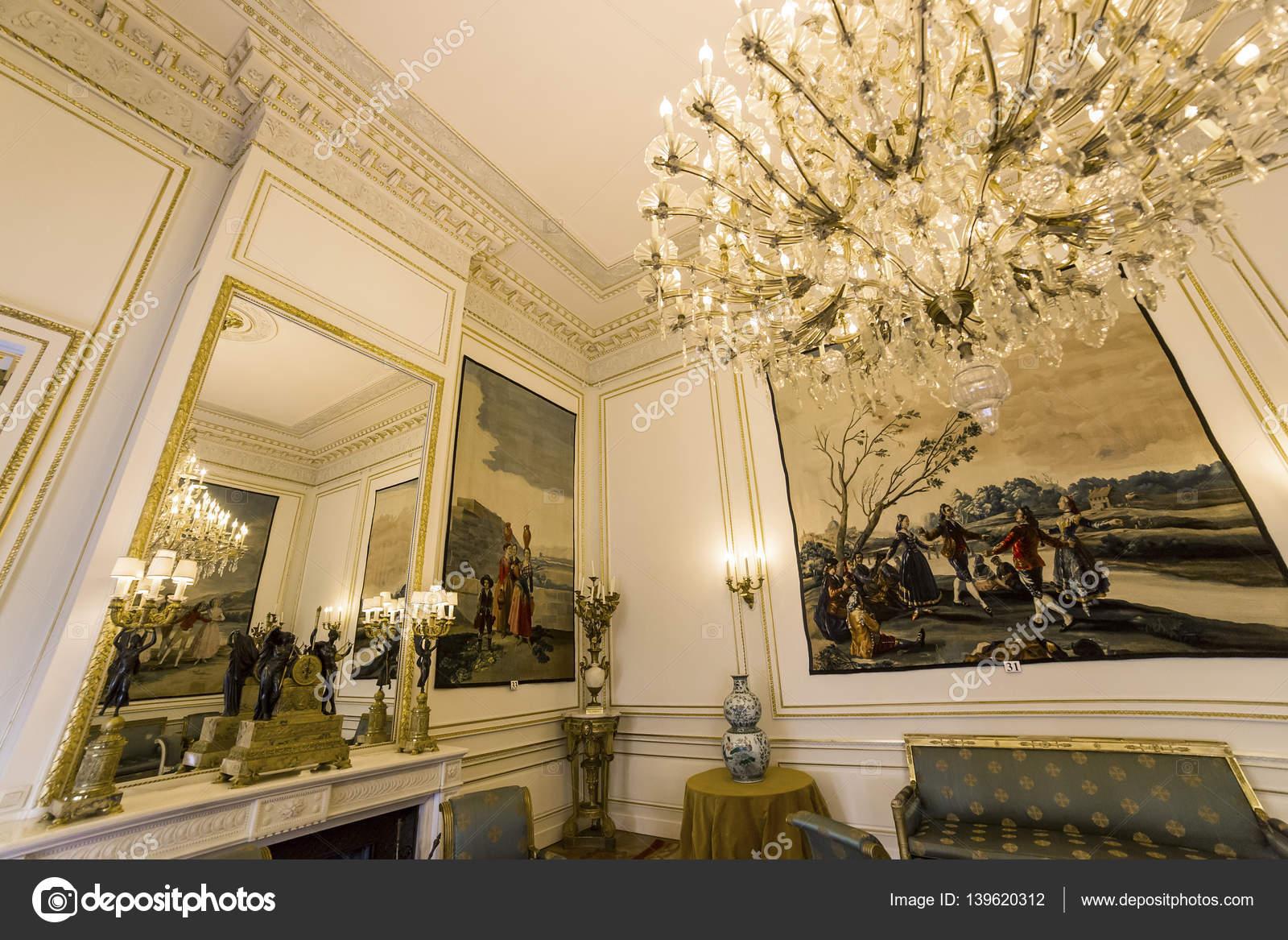 Interieur van Royal Palace, Brussel, België – Redactionele stockfoto ...