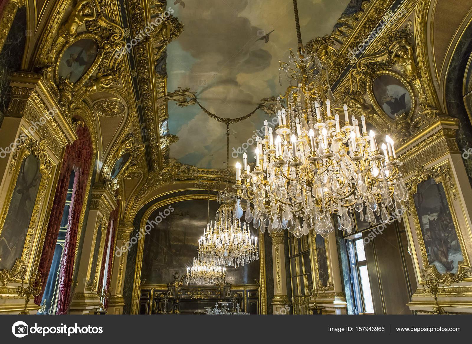 Interieur-Details des Louvre, Paris, Frankreich — Redaktionelles ...