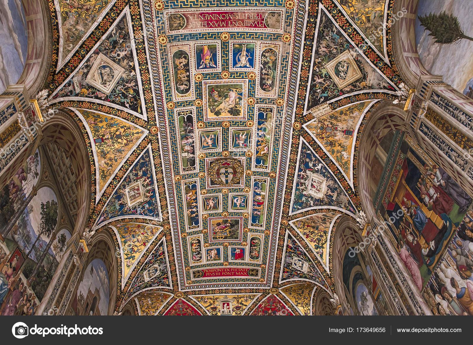 Siena Italien Juni 2016 Architektonische Bestätigungsbrief Der ...
