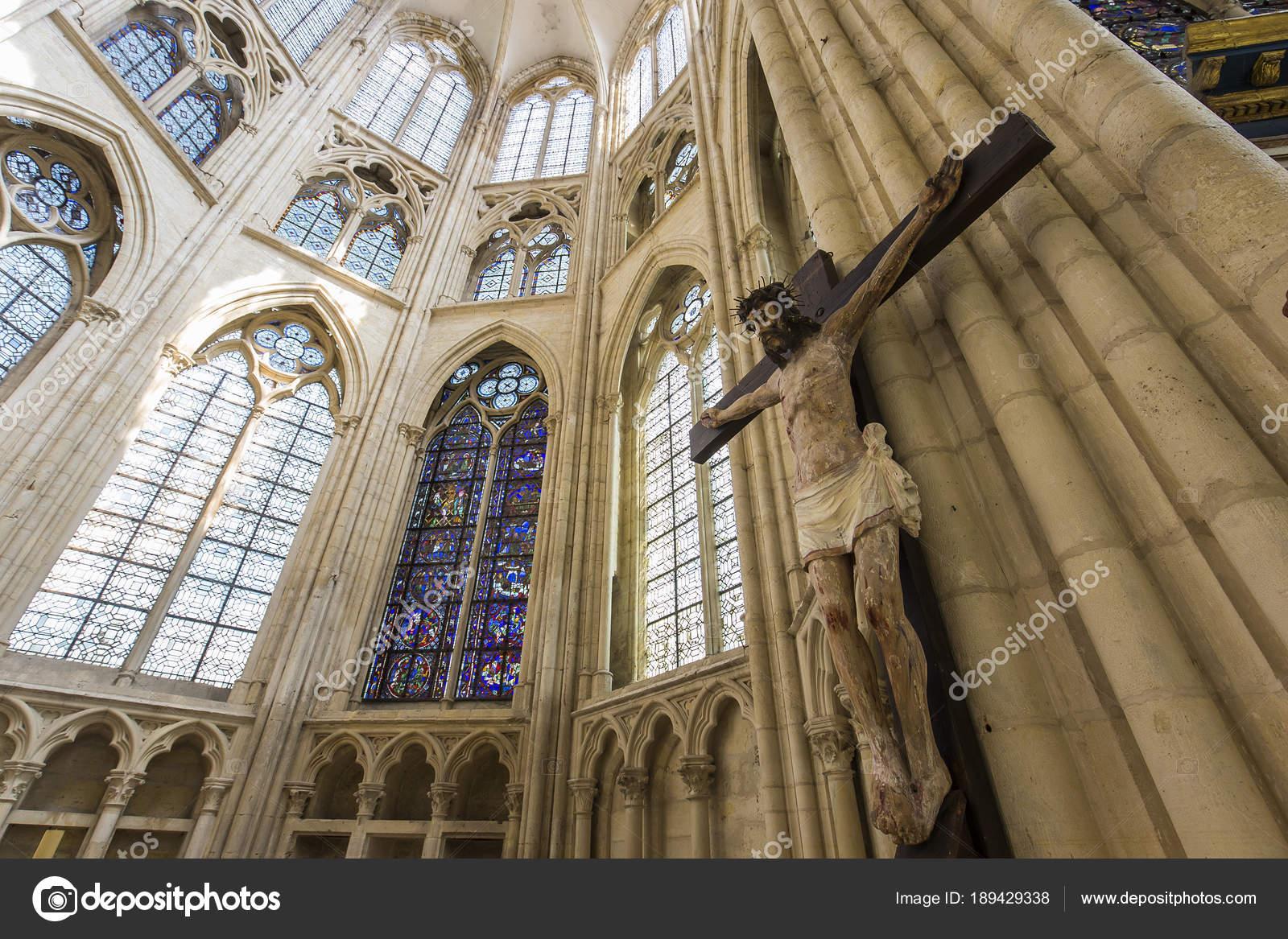 Saint Sulpice De Favieres Church, Essonne, France U2014 Stock Photo