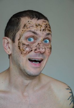 man with a face mask