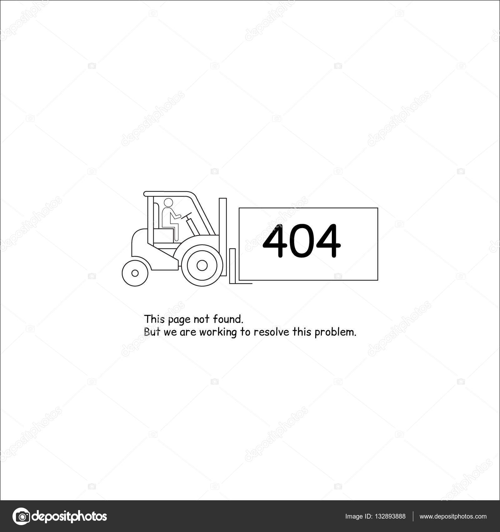 Error 404 Website Template Stock Vector