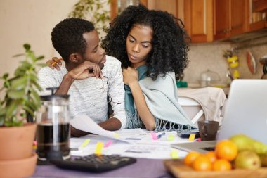 family feeling financial stress