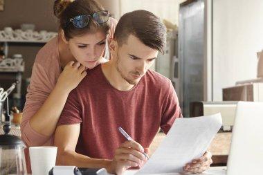 family managing domestic finances