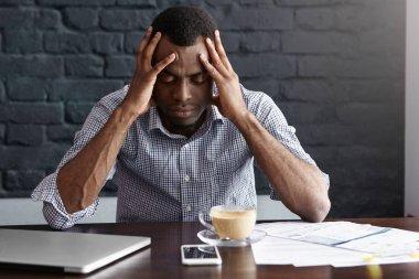businessman having bad headache