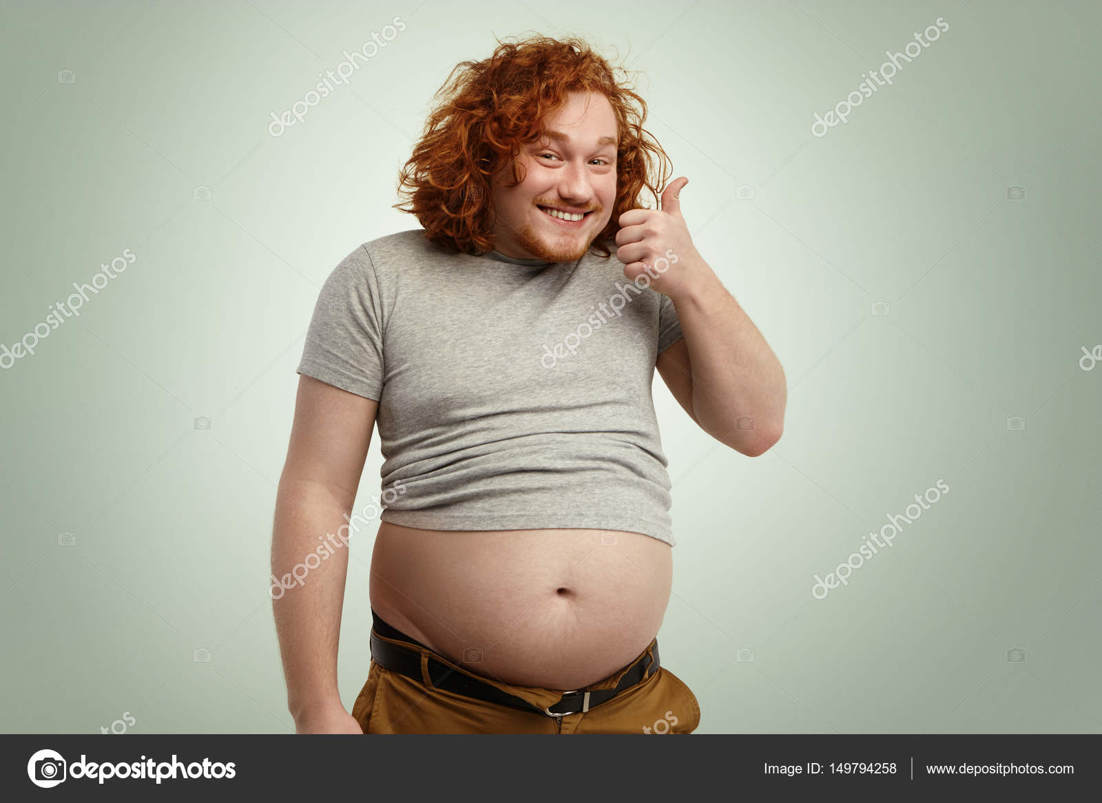 Photo of chubby man agree, rather