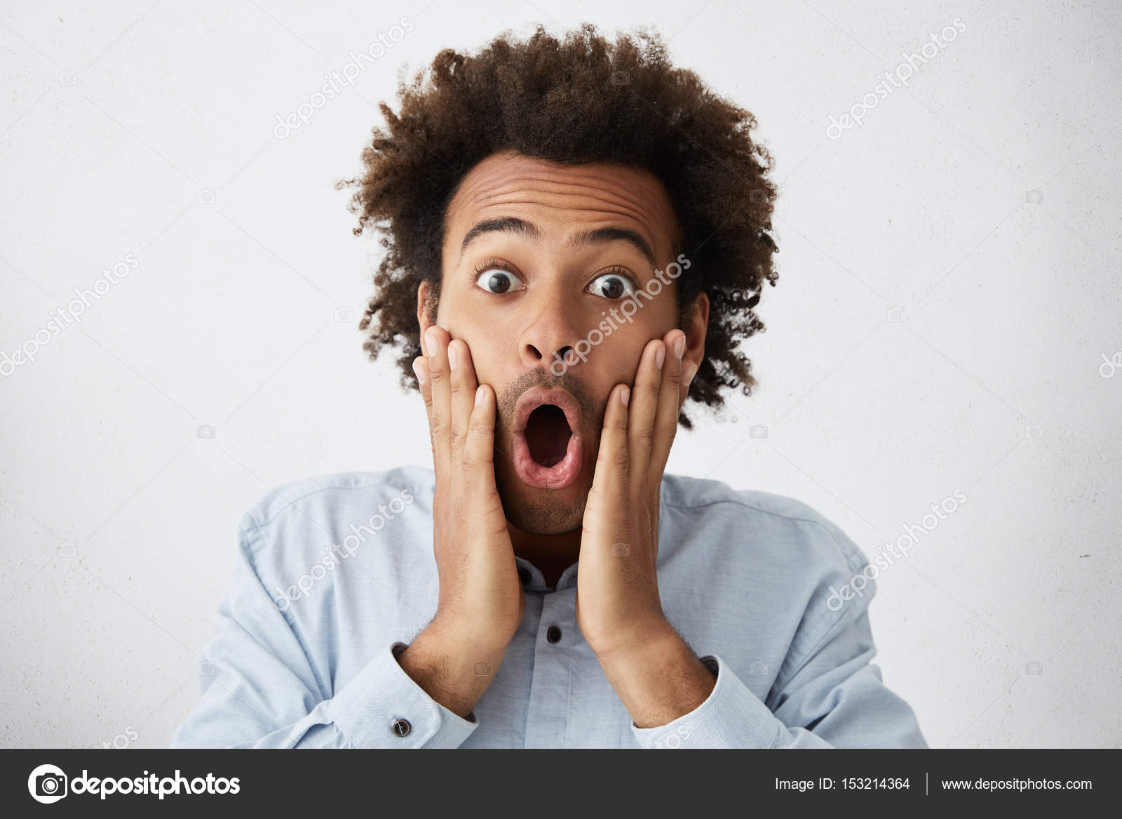 African Male With Funky Hairstyle Screaming Stock Photo Avemario