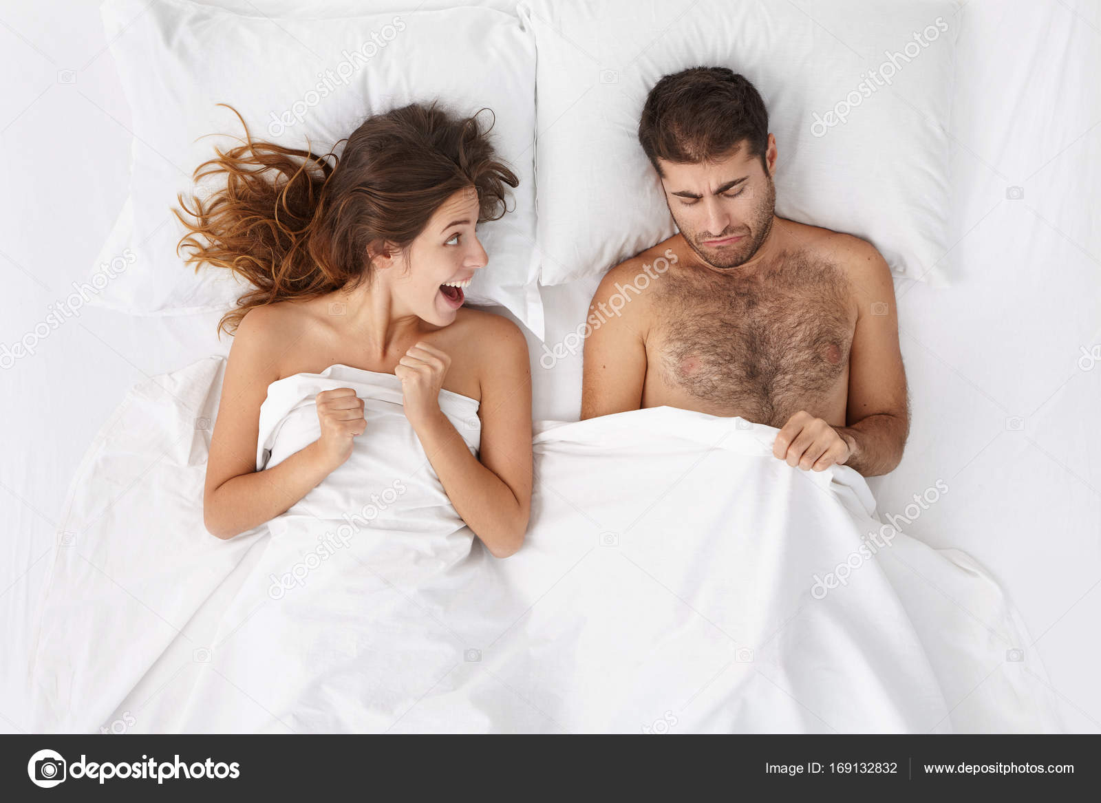 couple trying to have sex — Stock Photo © avemario #169132832