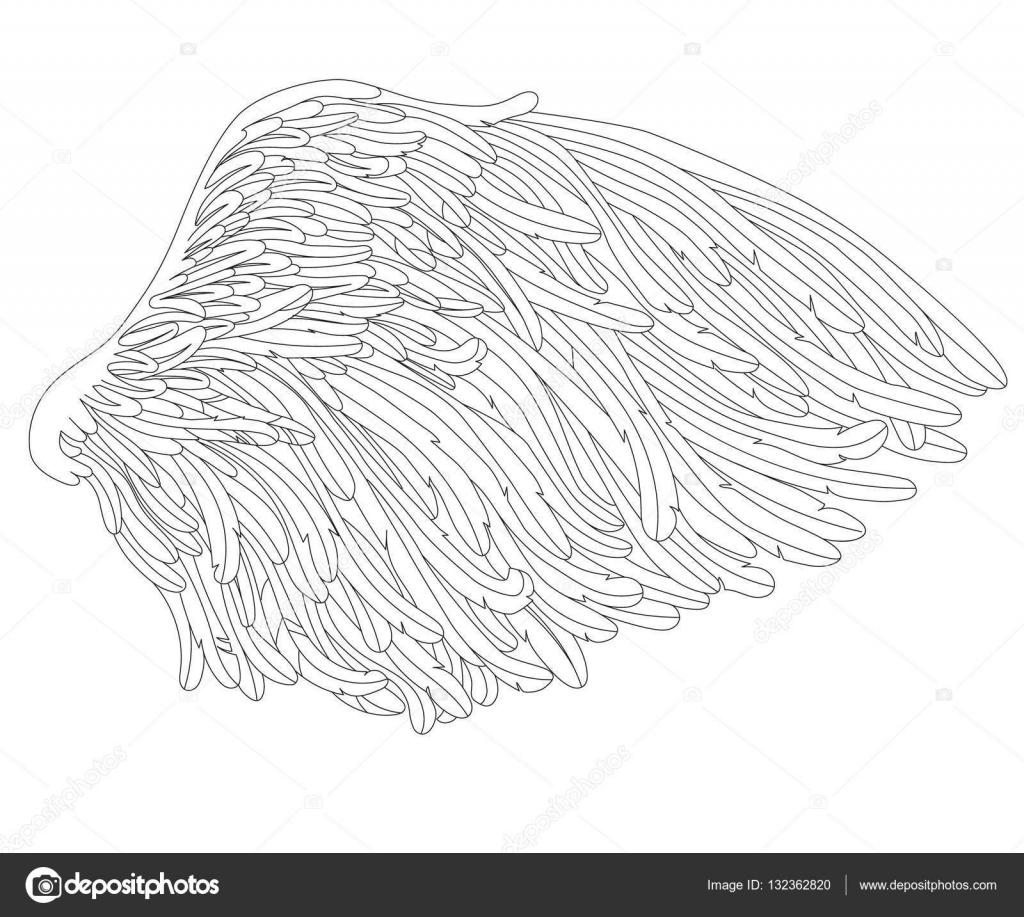ala página para colorear para adultos — Vector de stock © Insh1na ...