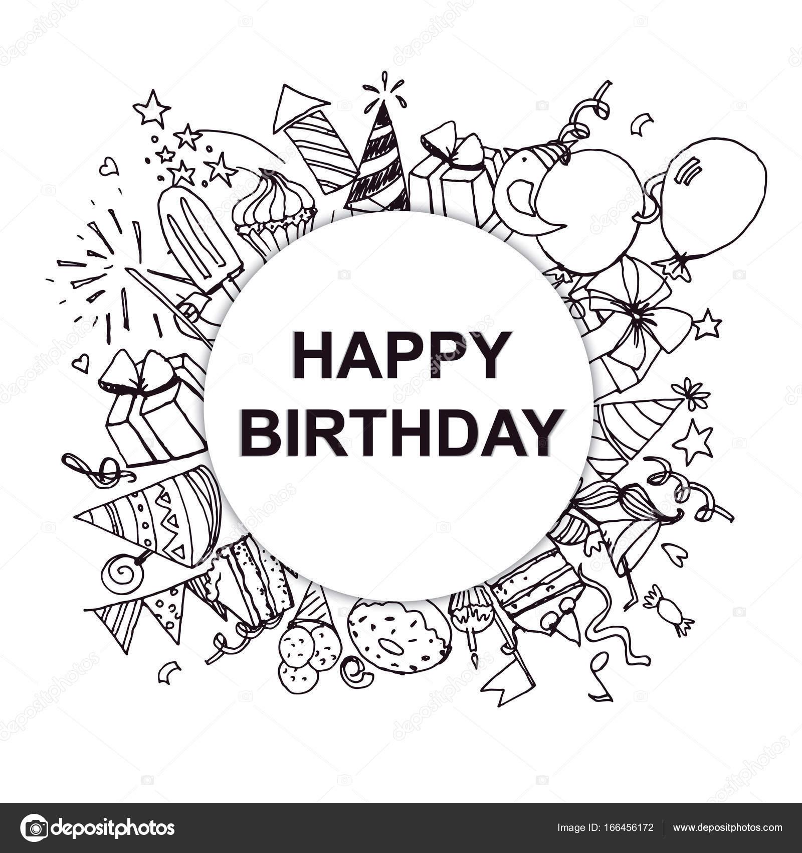 обложка для открытки с днем рождения черно белая помешать злым
