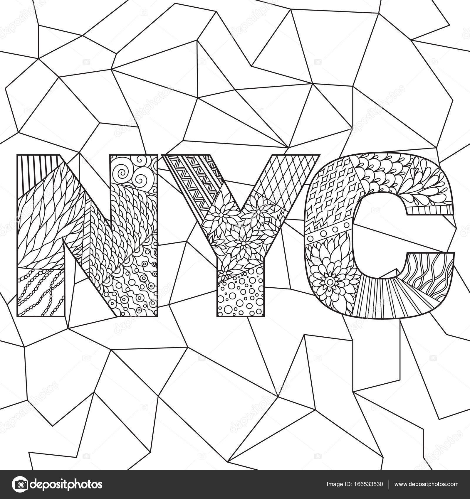 malvorlagen erwachsene new york  coloring and malvorlagan