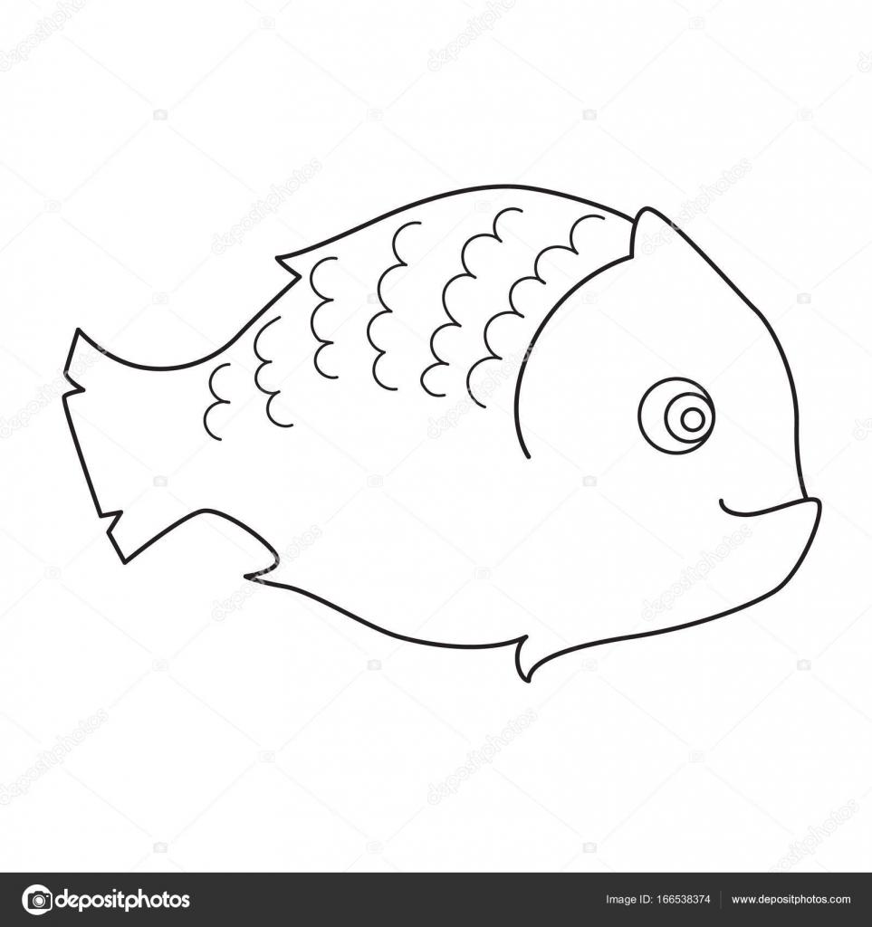 Pesce Pagina Da Colorare Per Bambini Vettoriali Stock Insh1na