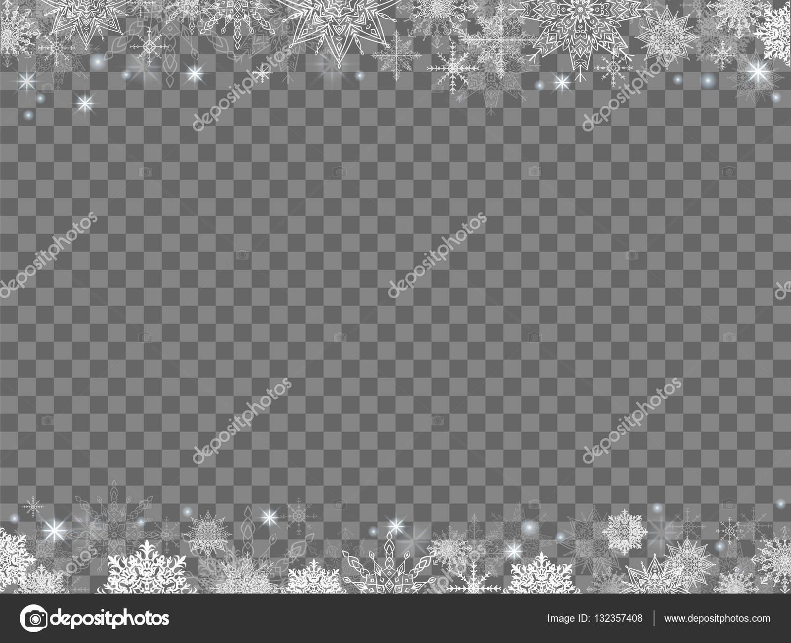 märchenhafte Weihnachten Hintergrund viele Schneeflocken Rahmen ...