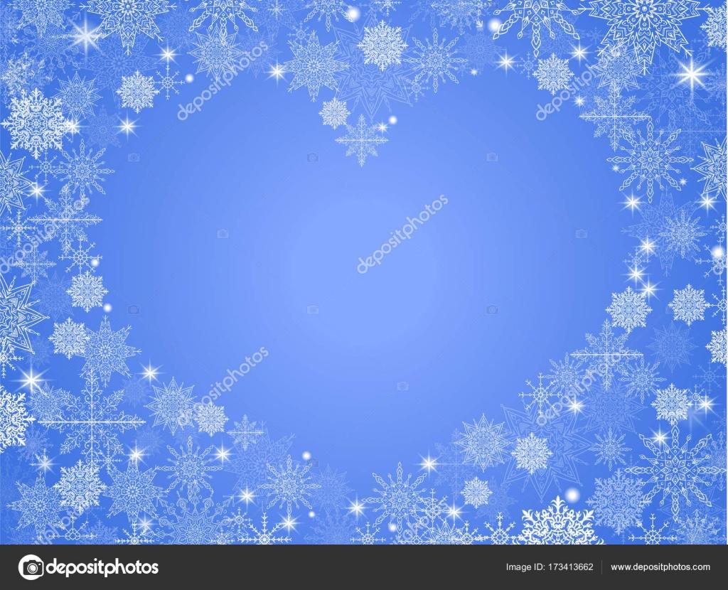 Sfondo Di Natale Con Cuore Vuoto In Blu Trasparente Centro