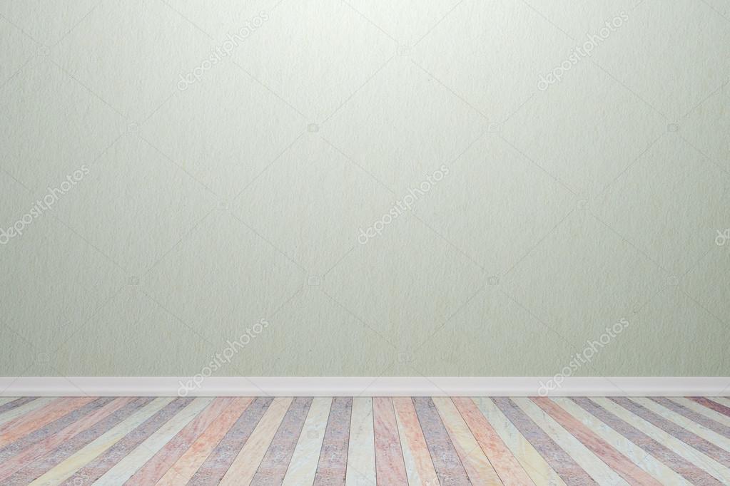 Leere Zimmer Nach Innen Holz Weiße Licht Farben Wand Und Boden, Für U2014  Stockfoto