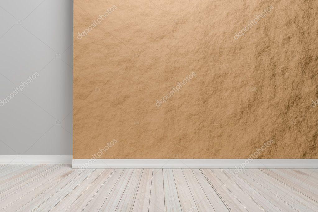 Leeg interieur licht bruin ruimte met houten vloer voor weergave o