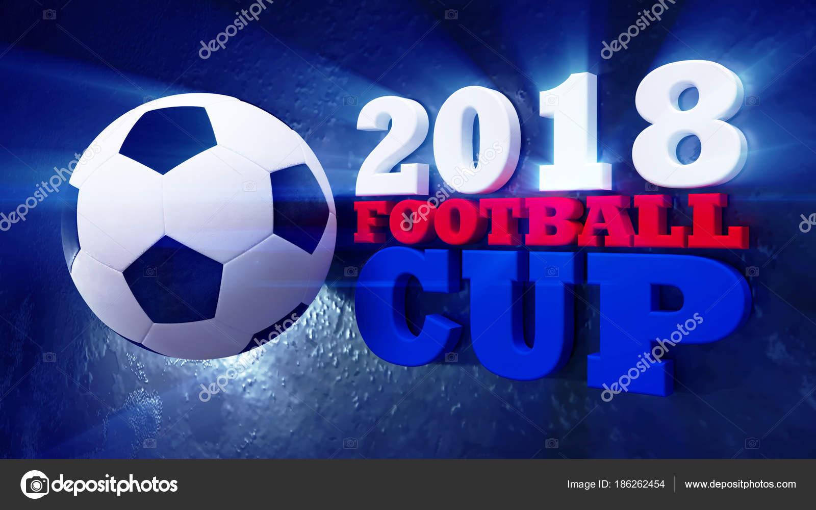 Pallone Da Calcio Con La Bandiera Nazionale Della Russia Su Sfondo