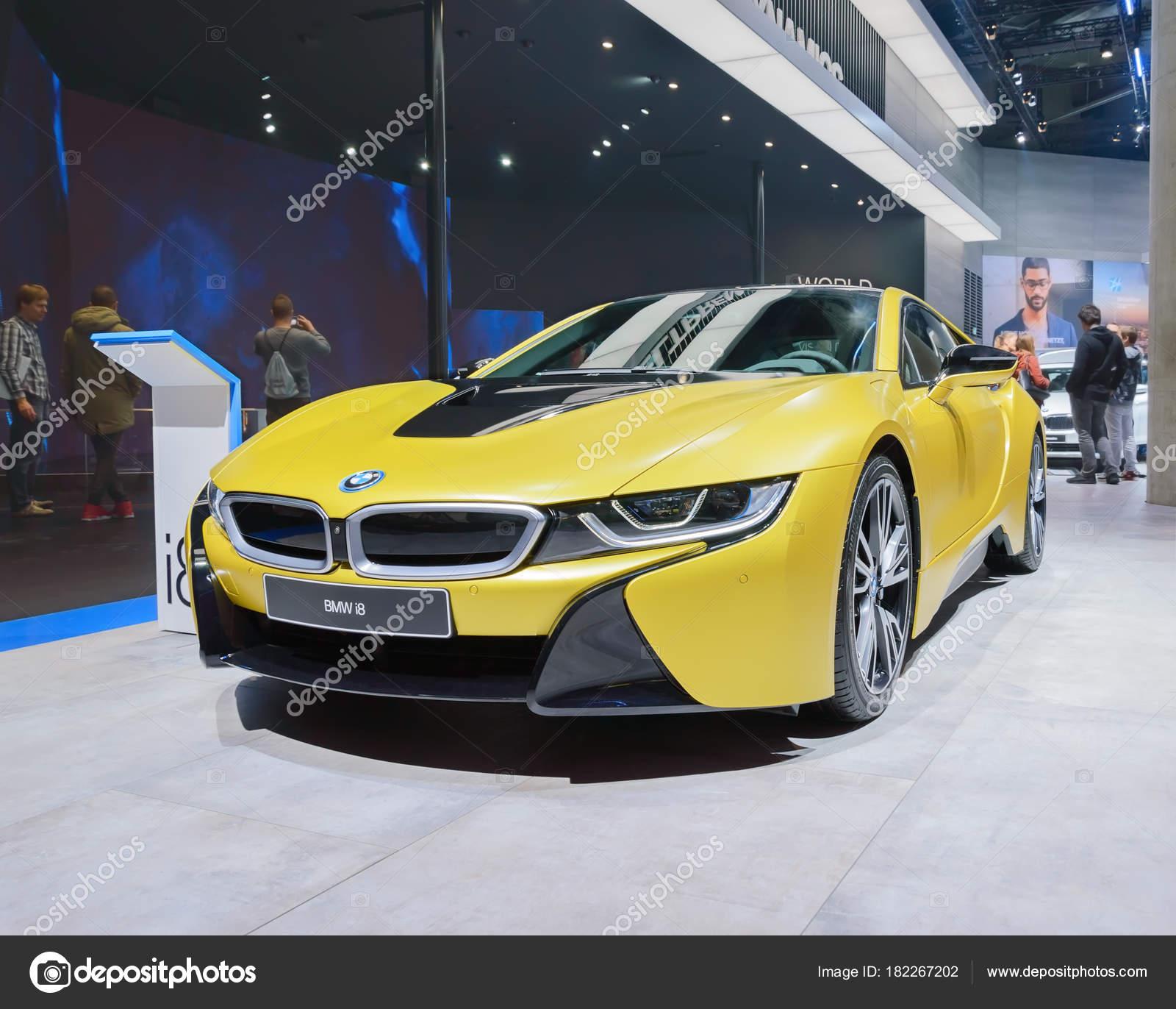 Bmw I8 Plug In Hybrid Electric Car At Iaa 2017 Stock Editorial