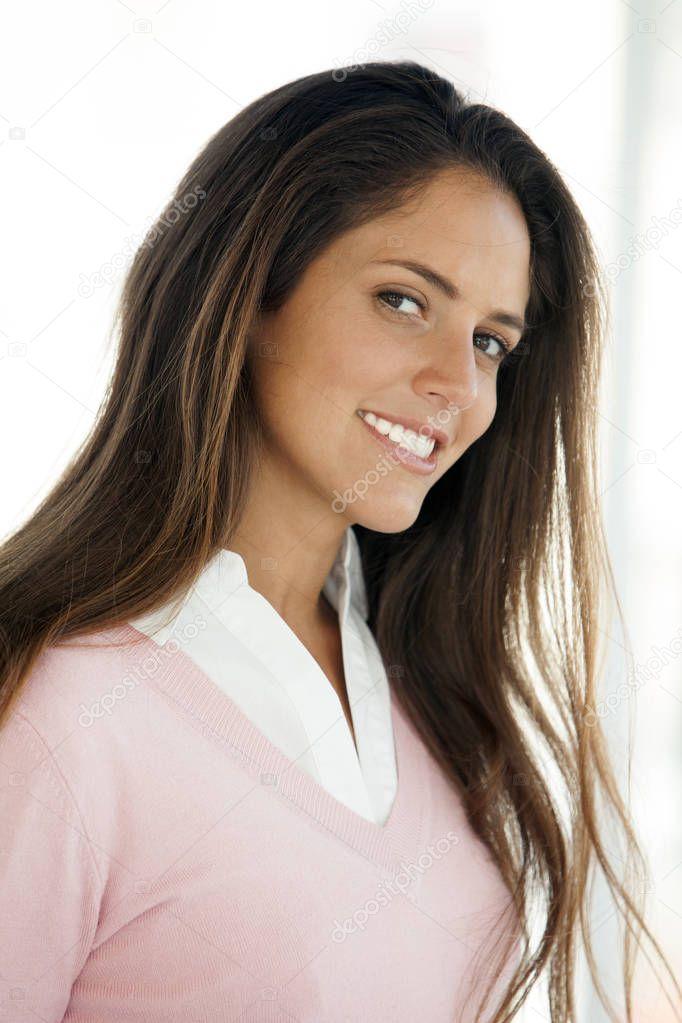 Pretty Latina Woman Portrait Young Woman — Stock Photo