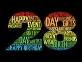 Boldog 28 születésnapi szó felhő