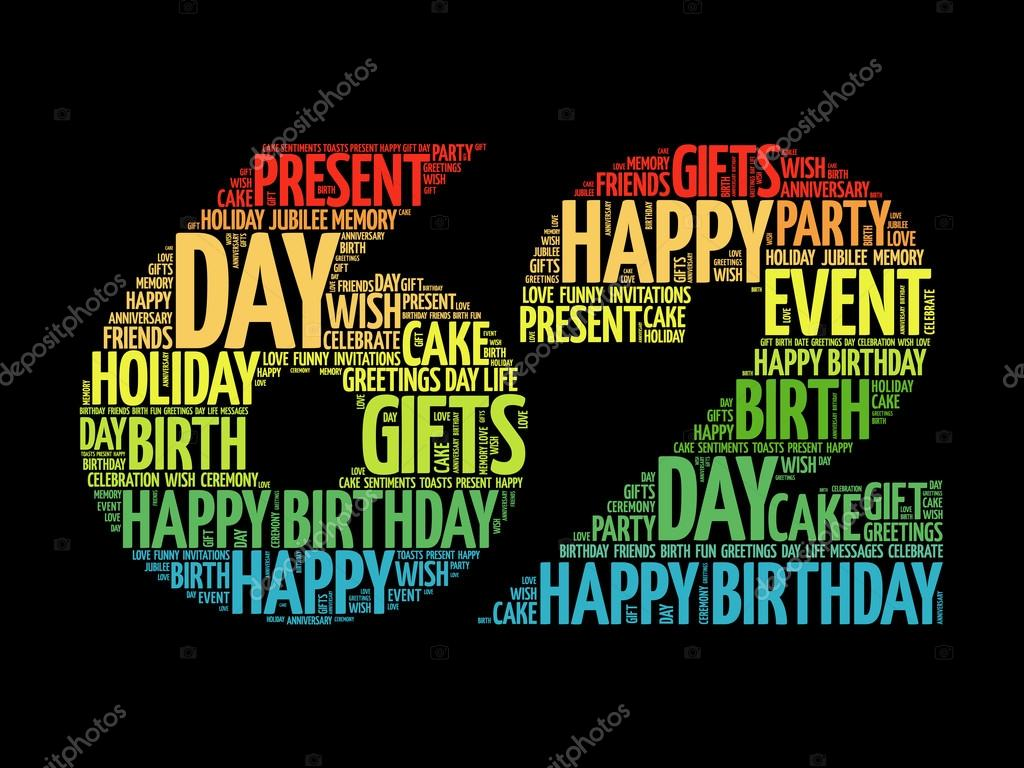 62nd birthday stock vectors royalty free 62nd birthday happy 62nd birthday word cloud stock vector m4hsunfo