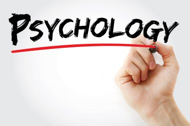 Hand writing Psychology with marker