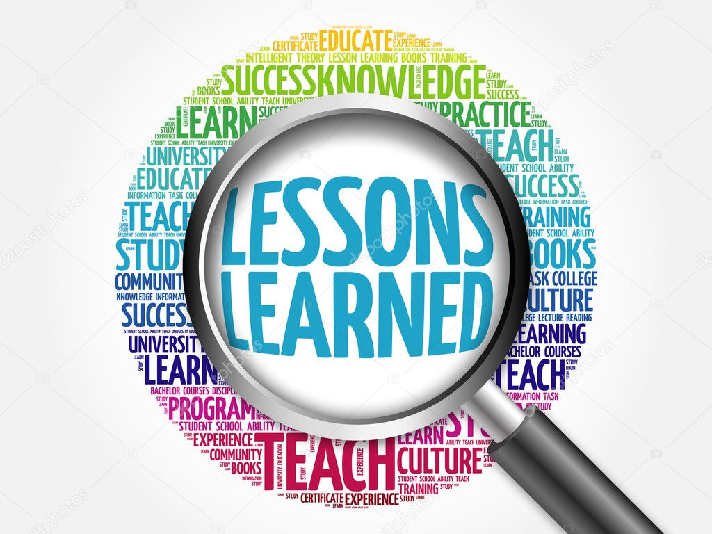 lessons learned word cloud � stock photo 169 dizanna 126839992