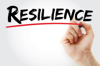 Hand writing Resilience with marker