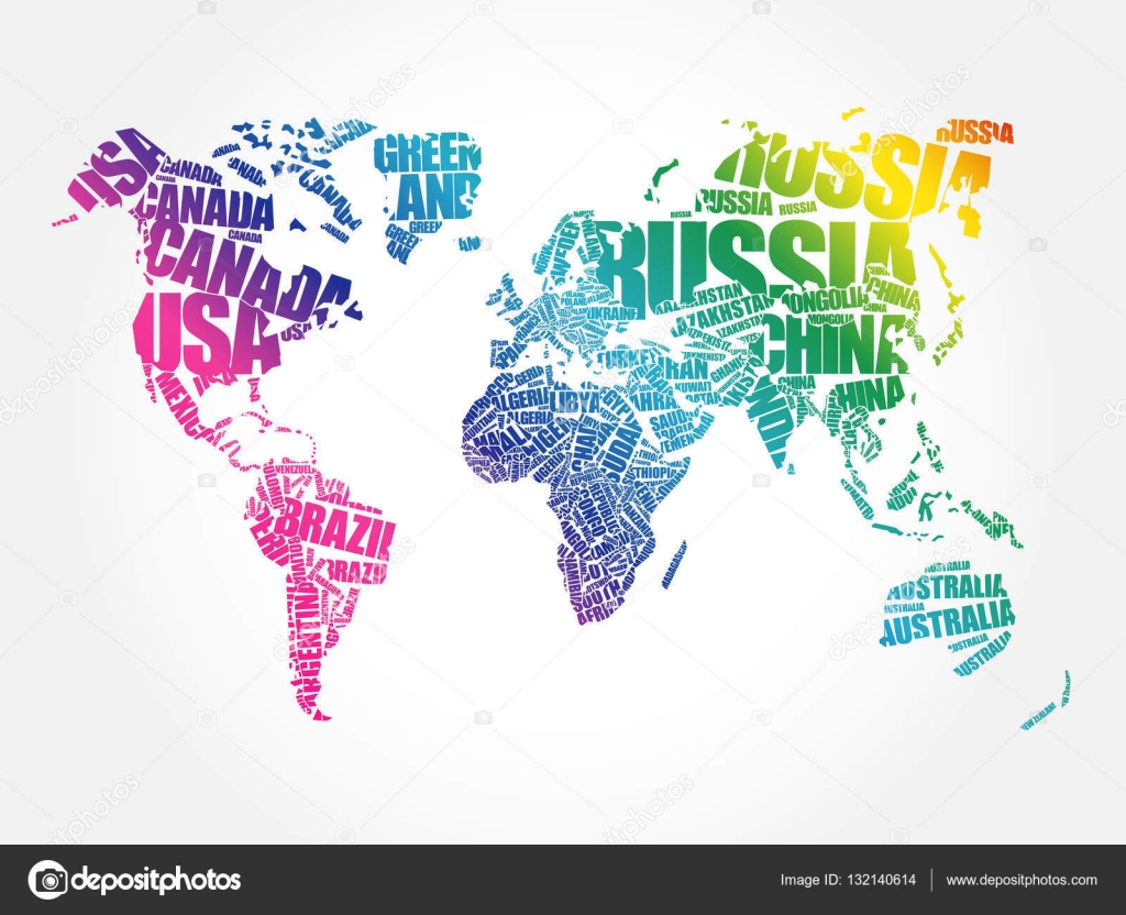 World map in typography word cloud concept stock vector dizanna world map in typography word cloud concept stock vector gumiabroncs Images