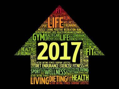 2017 Goals arrow health word cloud