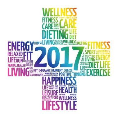 2017 Goals Health word cloud, health concept