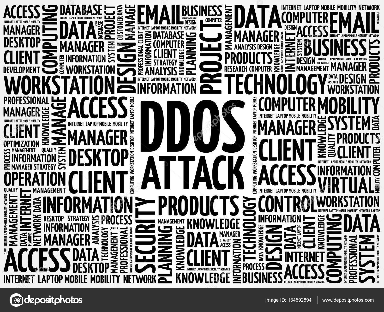 DDOS Attack word cloud — Stock Vector © dizanna #134592894