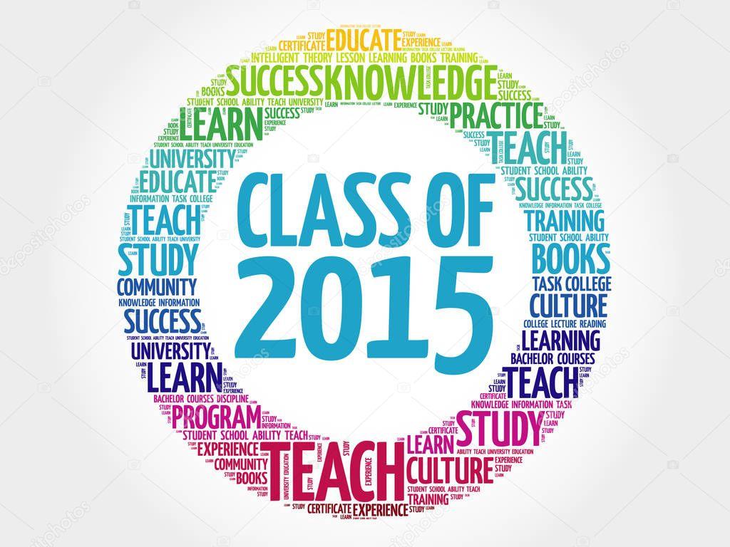 CLASS OF 2015 word cloud