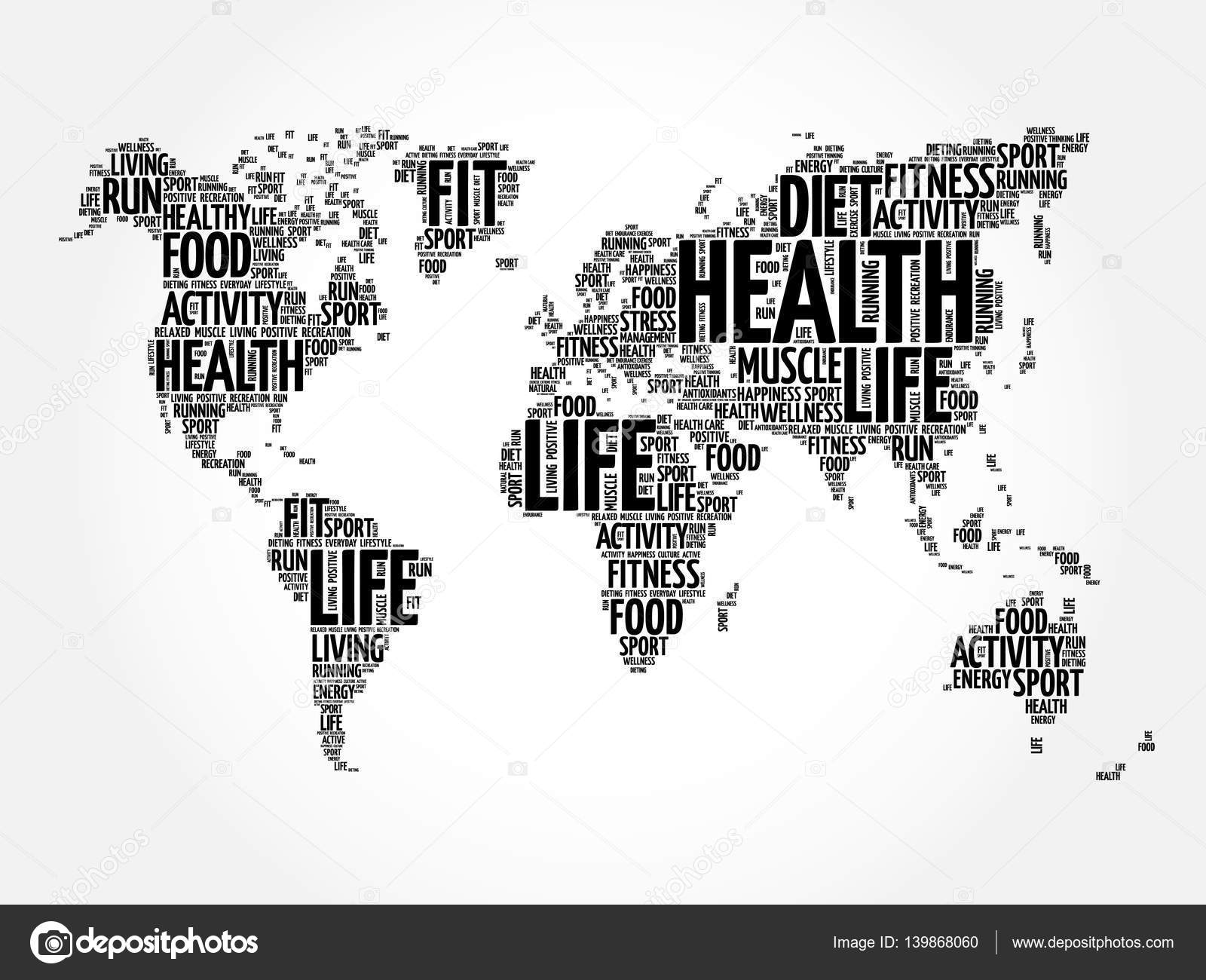 Health and life world map in typography stock vector dizanna health and life world map in typography stock vector 139868060 gumiabroncs Choice Image