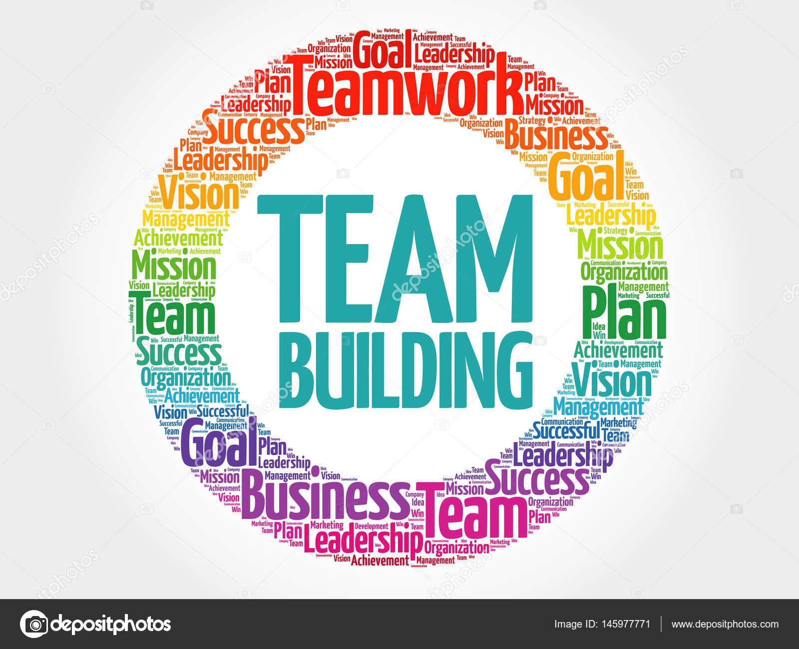 team building circle word cloud � stock vector 169 dizanna