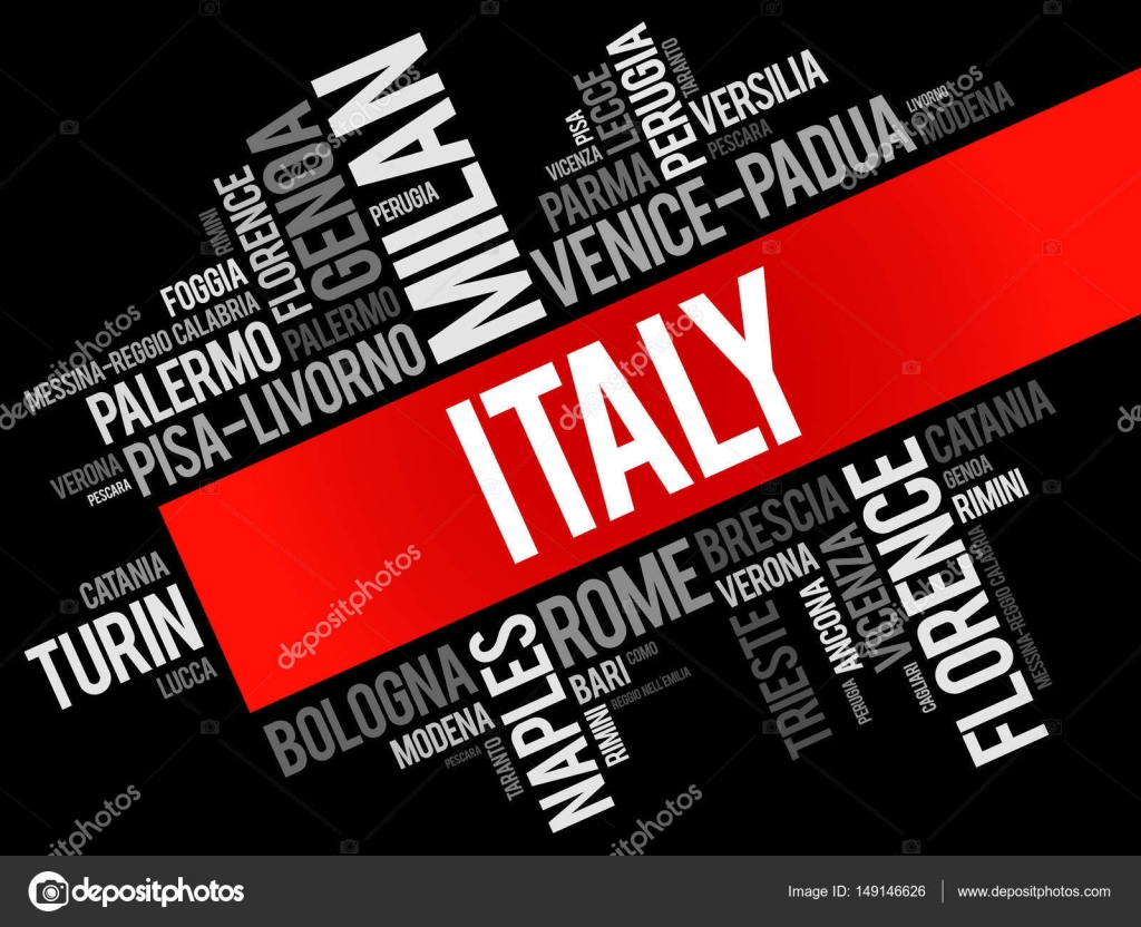 list of cities in italy, word cloud — stock vector © dizanna #149146626