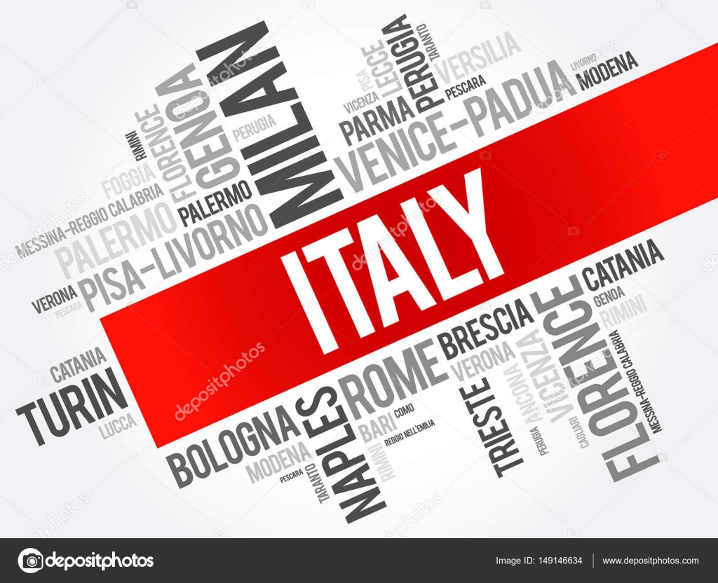 list of cities in italy, word cloud — stock vector © dizanna #149146634