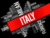 List of cities in Italy, word cloud