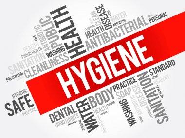 Hygiene word cloud collage