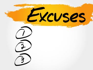 Excuses blank list