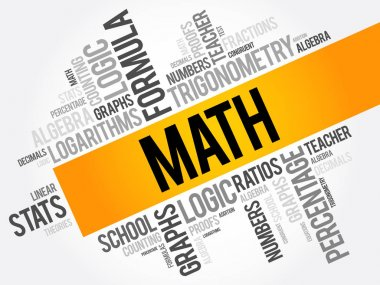 Math word cloud collage