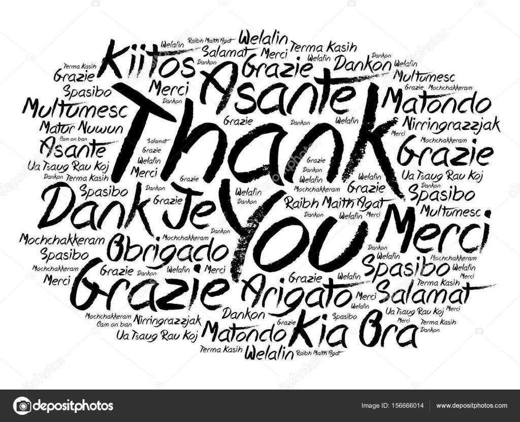 Nuvem De Palavra Obrigado Em Diferentes Idiomas