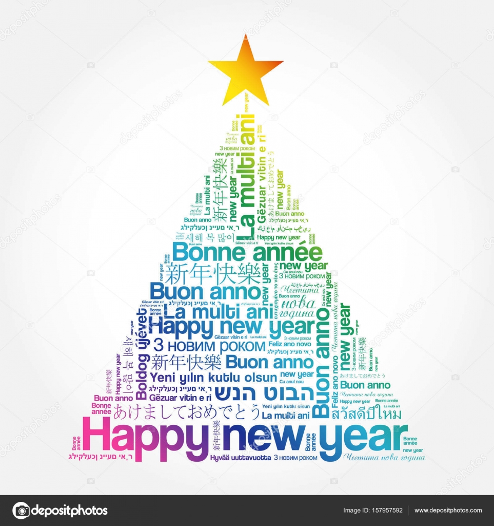 Happy New Year in different languages — Stock Vector © dizanna ...