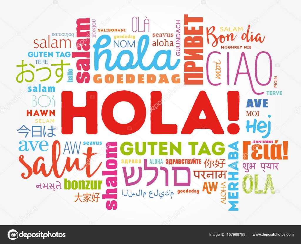 Hola hello greeting in spanish word cloud stock vector hola hello greeting in spanish word cloud stock vector kristyandbryce Image collections
