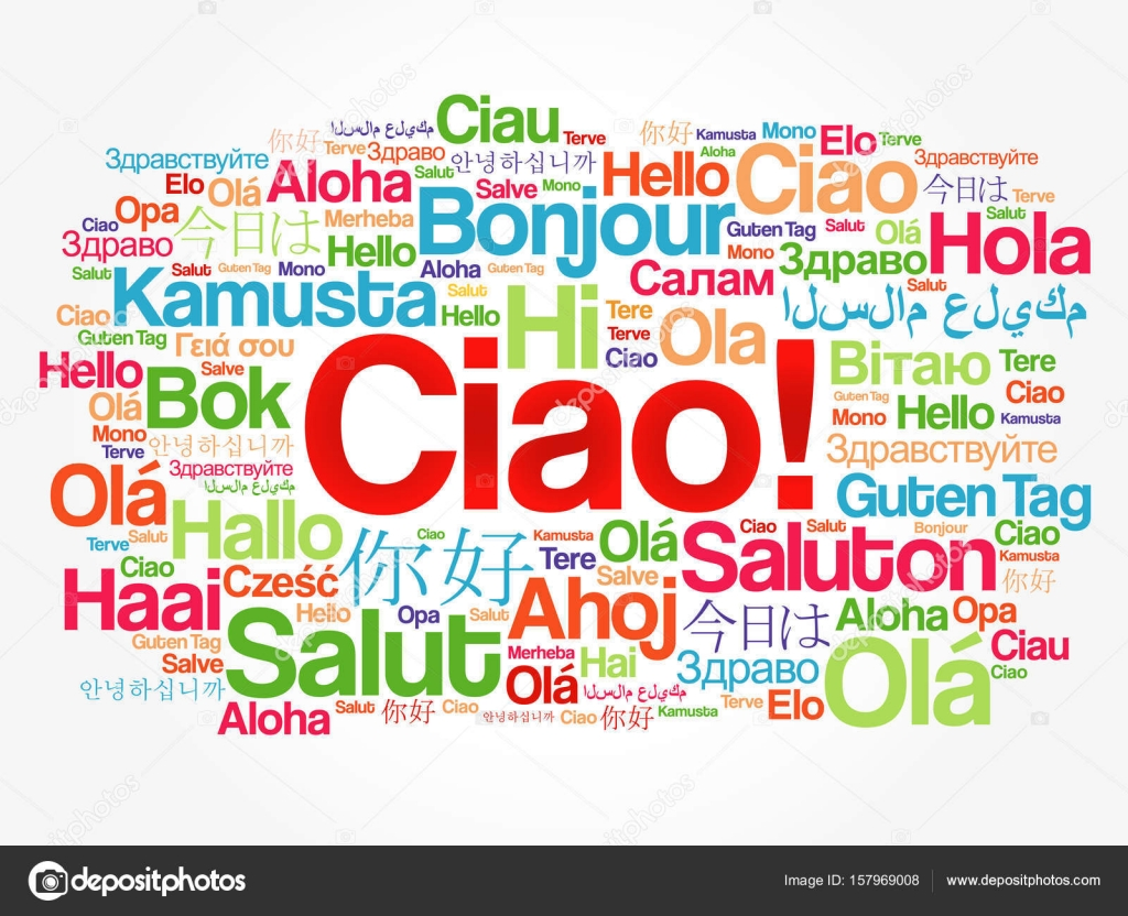 Ciao hello greeting in italian word cloud stock vector dizanna ciao hello greeting in italian word cloud in different languages of the world background concept vector by dizanna m4hsunfo