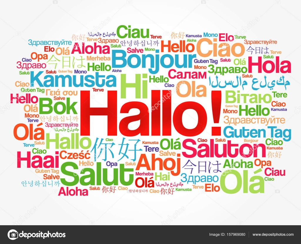 Hallo hello greeting in german word cloud stock vector hallo hello greeting in german word cloud in different languages of the world background concept vector by dizanna kristyandbryce Gallery