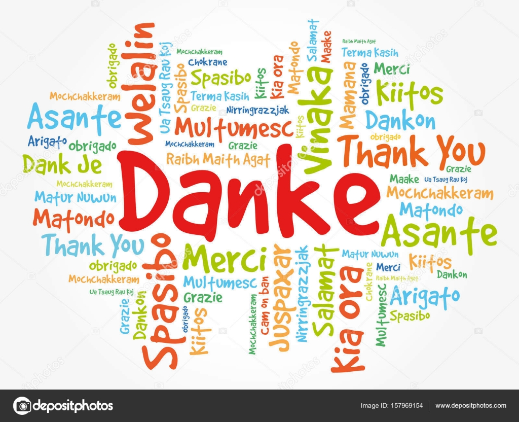 danke thank you in german ストックベクター dizanna 157969154
